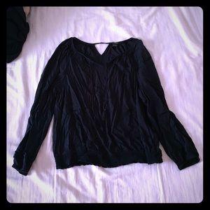 Lucky Brand black dressy top; size Large